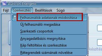 Felhasználók módosítása