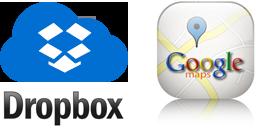 Dropbox és Google maps komponens